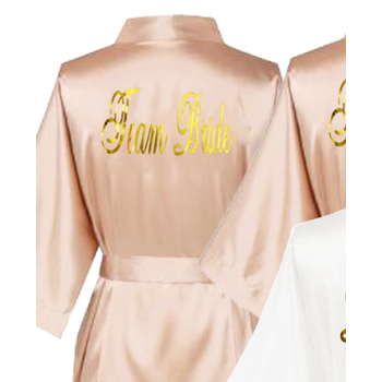 Champagne Dressing Gown - Team Bride