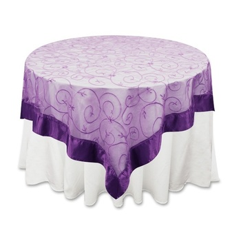 Overlay 72 inch (Embroidered Organza) - Purple