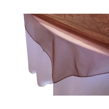 Square Overlay 182cm (Organza) - Chocolate CLEARANCE
