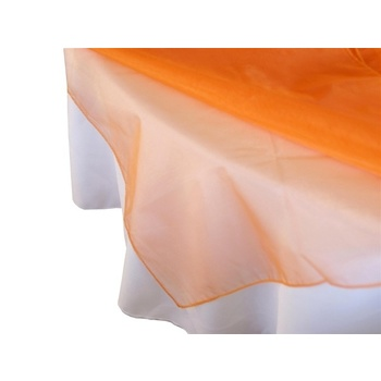 Square Overlay 182cm (Organza) - Orange CLEARANCE