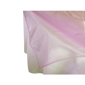 Square Overlay 182cm (Organza) - Pink CLEARANCE