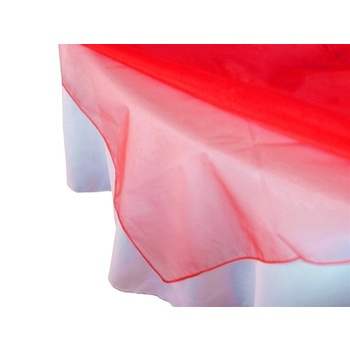 Overlay 72 inch (Organza) - Red CLEARANCE