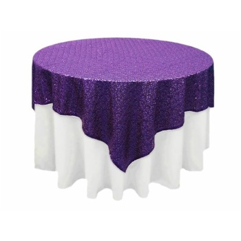Stunning Sequin Table Overlay 90inch - PURP