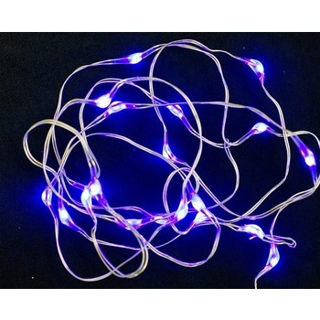 Purple inLine LED Fairy Lights - Battery Operated 2.1m