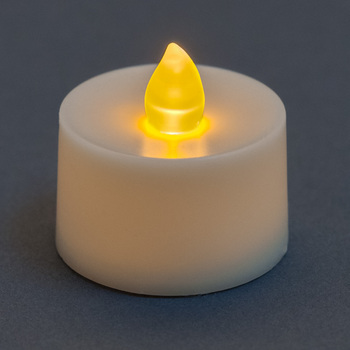 24/pk LED Votive Candle - Amber Flame