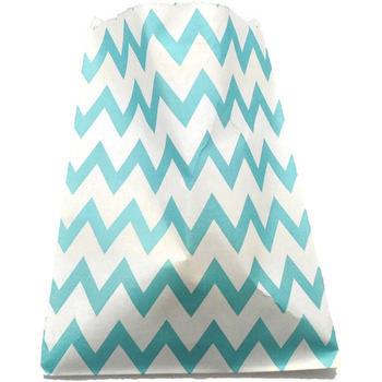 Paper 24Pk Blue ZigZag Lolly Bags