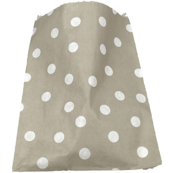 Paper 24Pk Grey Polkodot Lolly Bags