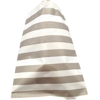 Paper 24Pk Grey horizontal Stripe Lolly Bags