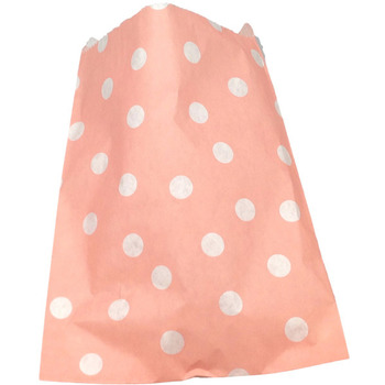 Paper 24Pk Pink Polkodot Lolly Bags