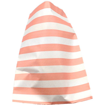 Paper 24Pk Pink horizontal Stripe Lolly Bags