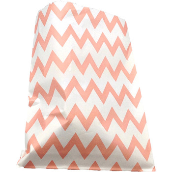 Paper 24Pk Pink ZigZag Lolly Bags