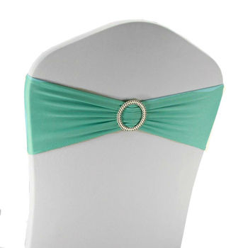 Lycra Chair Band W/Slider - Aqua Green