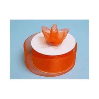 1 1/2 inch Organza Ribbon - Orange