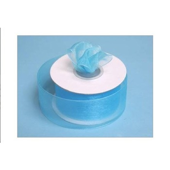 1 1/2 inch Organza Ribbon - Turquoise
