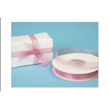 3/8 inch Organza Ribbon - Mauve (dusty pink)