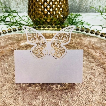 20pk Lavender Butterfly Place Cards