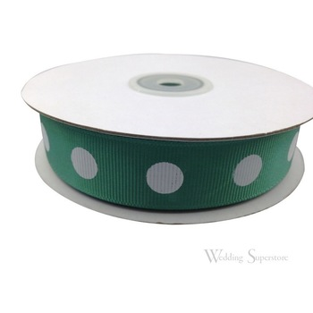7/8 inch Polka Dot Ribbon - 25yds - Hunter