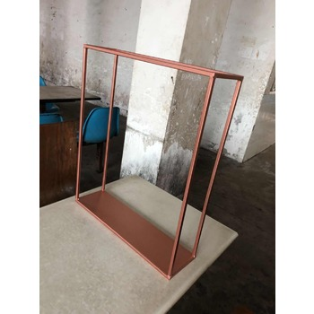 60cm Tall ROSE Gold Rectangular Flower Stand Centerpiece