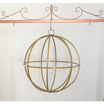 60cm Dia large Gold Hanging Globe Sphere - Hanging Ceiling/Arch Floral Frame