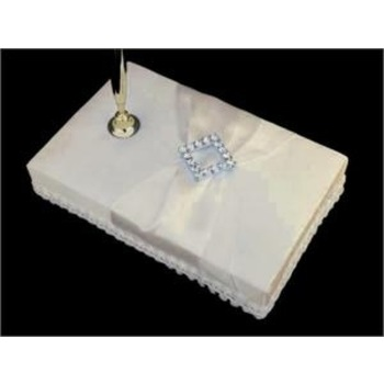 CLEARANCE Wedding Guest Book Pen - Diamond Buckle Ivory Clearance