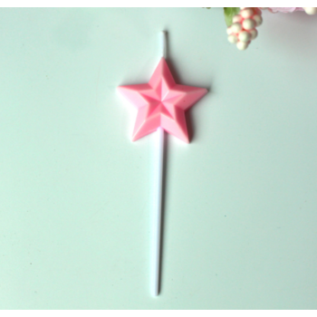 1 x  Pink Star Birthday Cake Candles