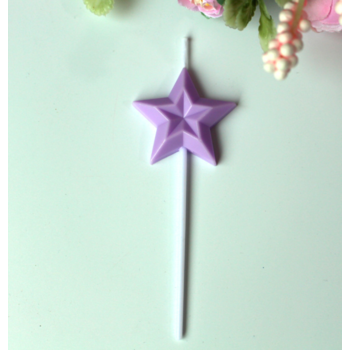 1 x  Light Purple Star Birthday Cake Candles
