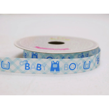 MY BABY BOY Shower Ribbon - 5/8inch x 10yards