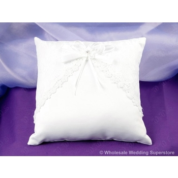 Ring Pillow - Lace 076 - White