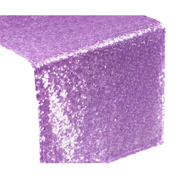 Sequin Duchess Table Runner - Lavender