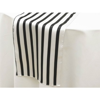 Striped Table Runner - White & Black
