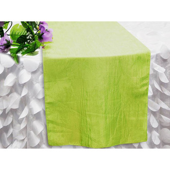 Table Runner (Taffeta Crinkle) - Apple Green