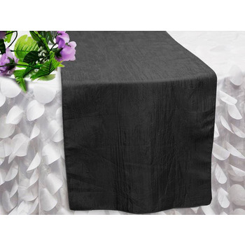 Table Runner (Taffeta Crinkle) - Black