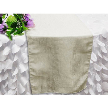 Table Runner (Taffeta Crinkle) - Ivory