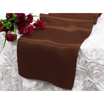 Table Runner (Satin) - Chocolate