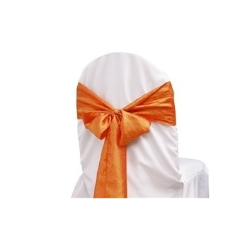 Taffeta Crinkle Chair Sash-  Orange