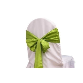 Taffeta Crinkle Chair Sash - Sage Green
