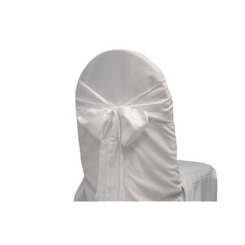 Taffeta Crinkle Chair Sash - White