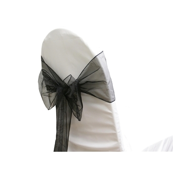 Organza (Regular) Chair Sash  - Black
