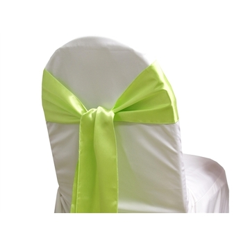Satin Chair Sash - Apple Green