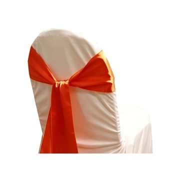 Satin Chair Sash  - Burnt Orange
