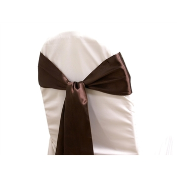 Satin Chair Sash - Chocolate