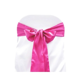 Satin Chair Sash - Fushia