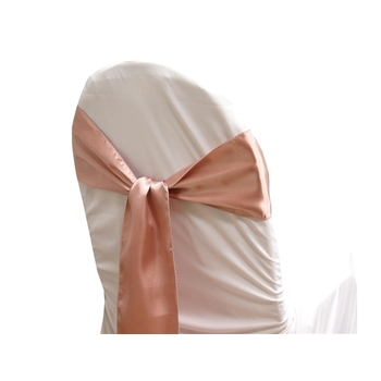 Satin Chair Sash  - Mauve