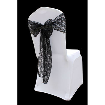 Black Lace Chair Sash
