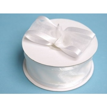 1 1/2 inch  Satin Edge Ribbon - White