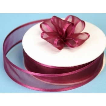 7/8 Satin Edge Ribbon - Burgundy