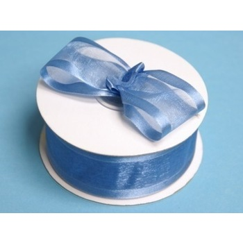 1 1/2 inch Wired Satin Edge Organza Ribbon - Periwinkle