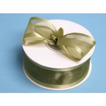 1 1/2 inch Wired Satin Edge Organza Ribbon - Willow