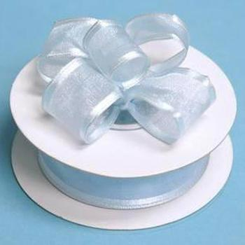 7/8 x 10yd Wired Satin Edge Organza Ribbon - Blue