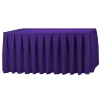 Table Skirting Polyester 4.3m - Purple